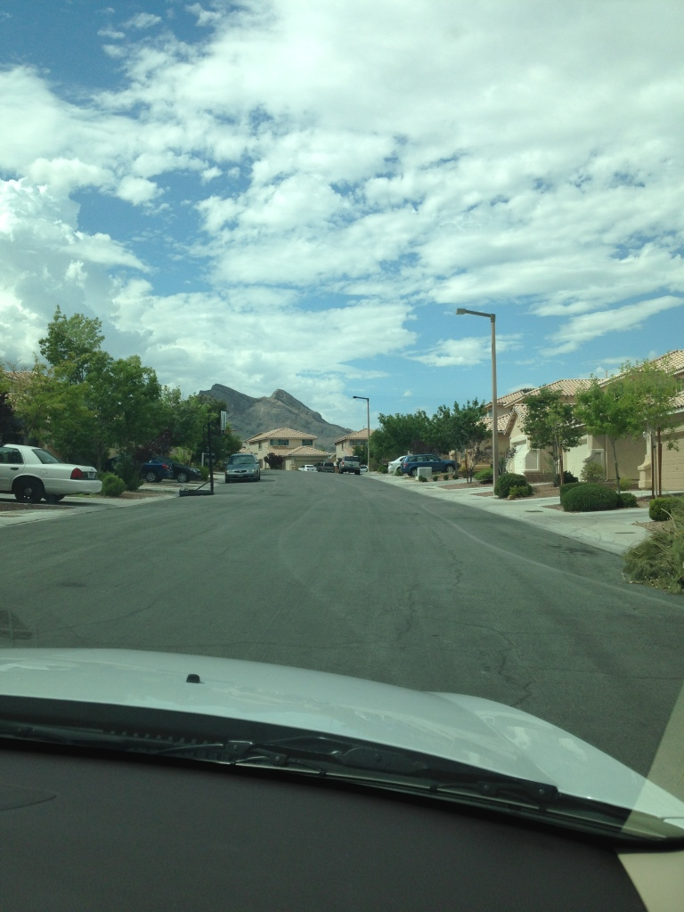 Neighborhood with Red Rock Canyon in the background
